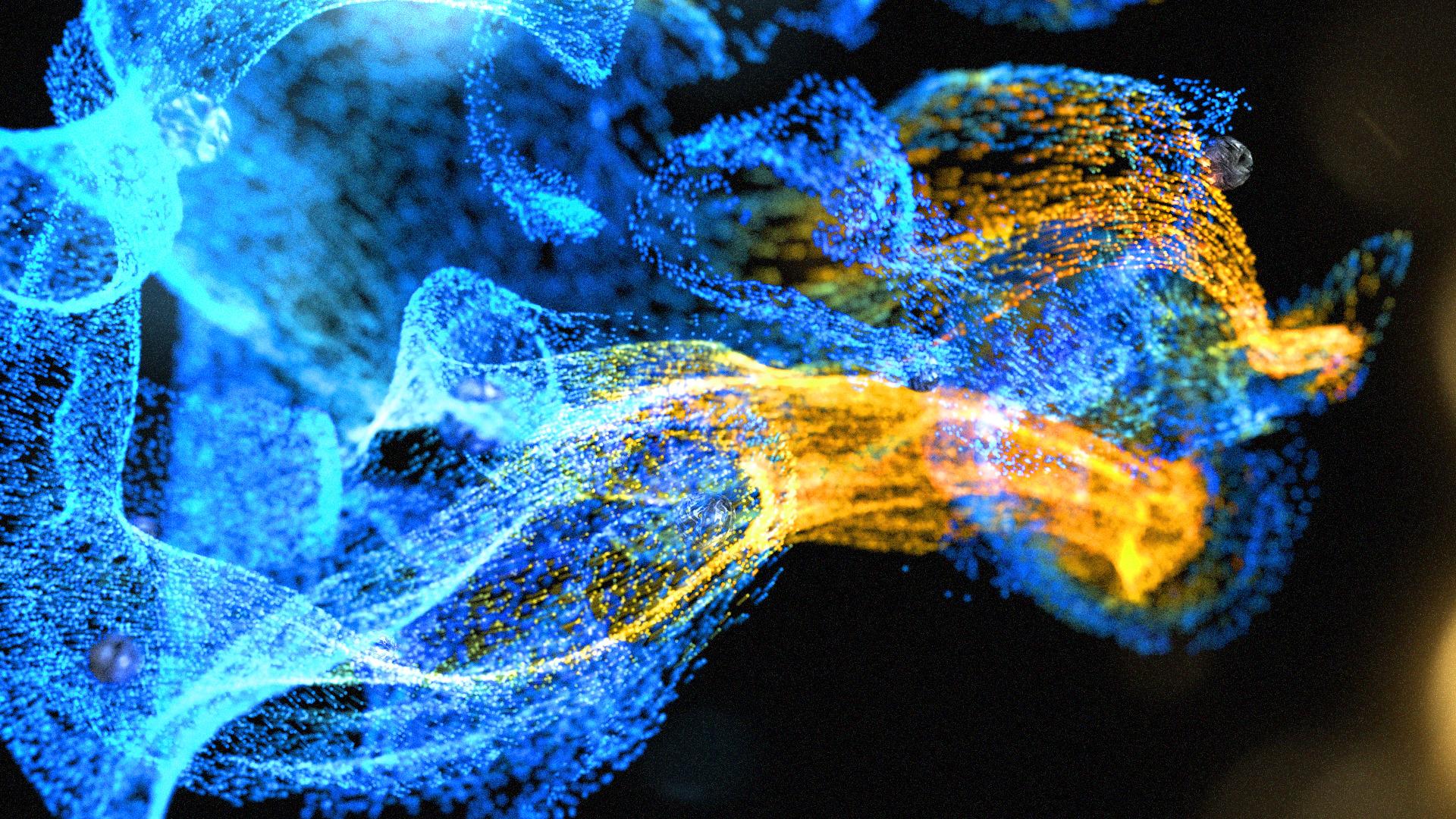 Blue 3D Particles