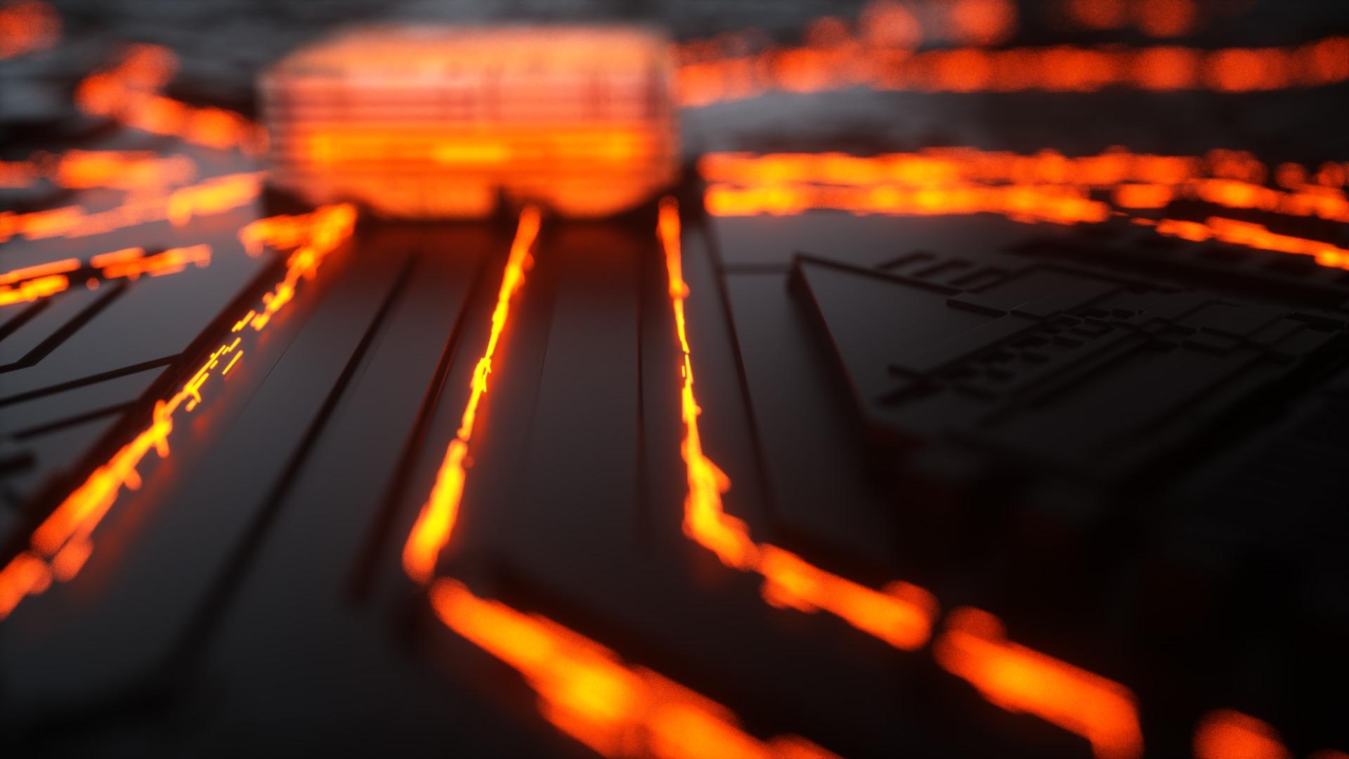 3D Prozessor Leiterbahnen