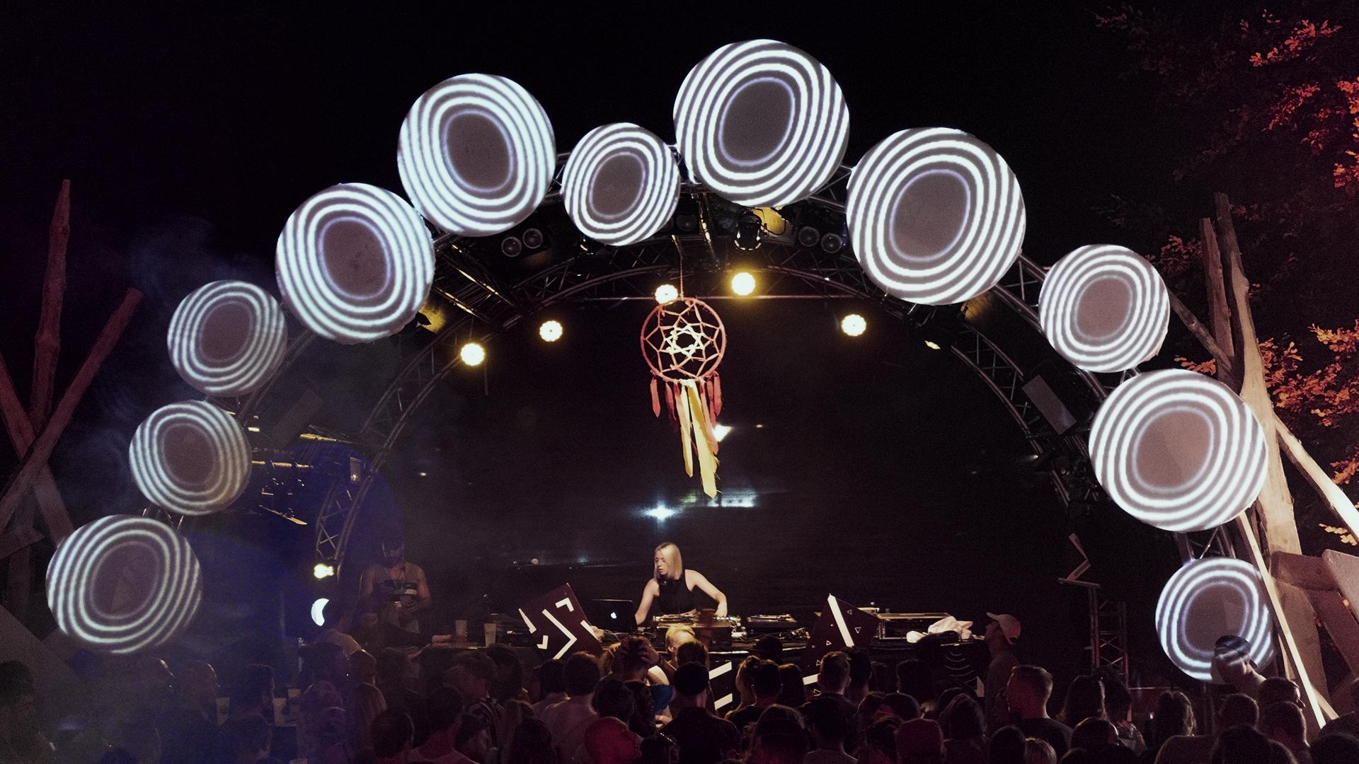 Taktraumfestival Bühne 2018 Projektionen