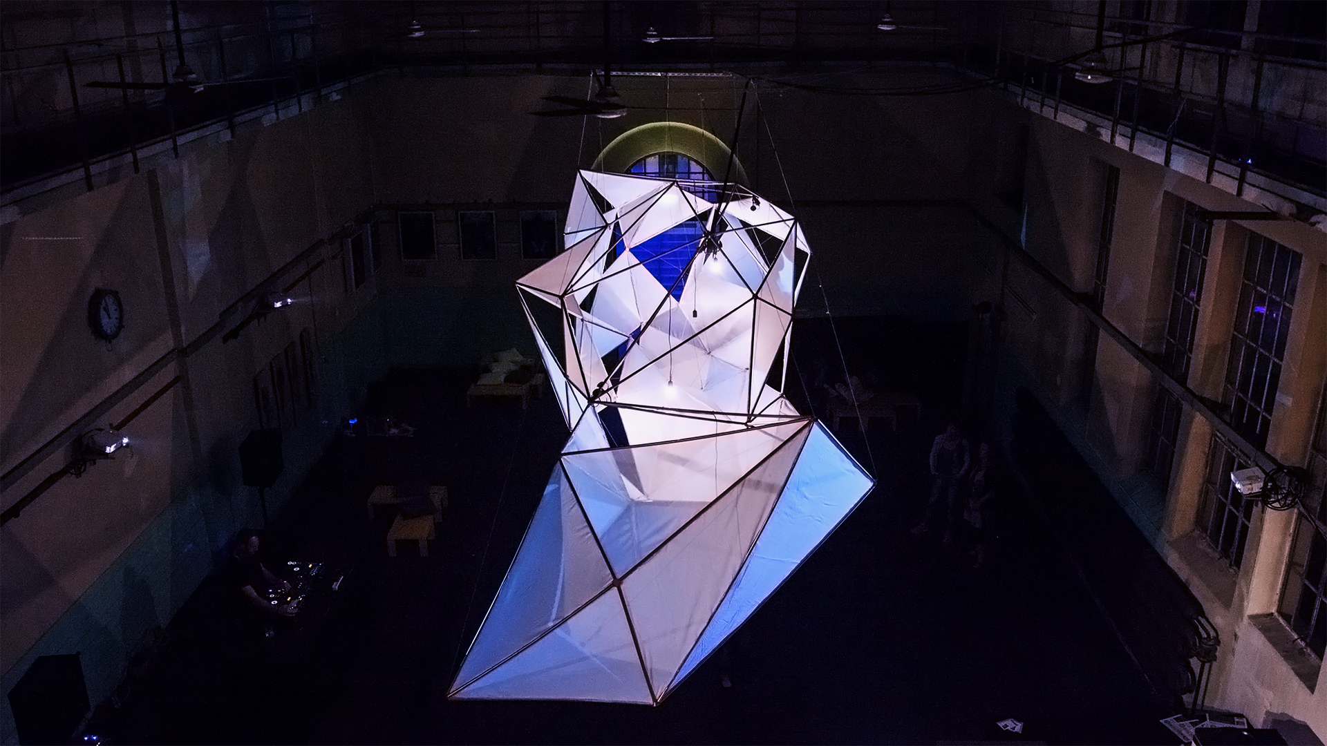 Media Art Installation Orbis in Gaswerk Augsburg - Projections