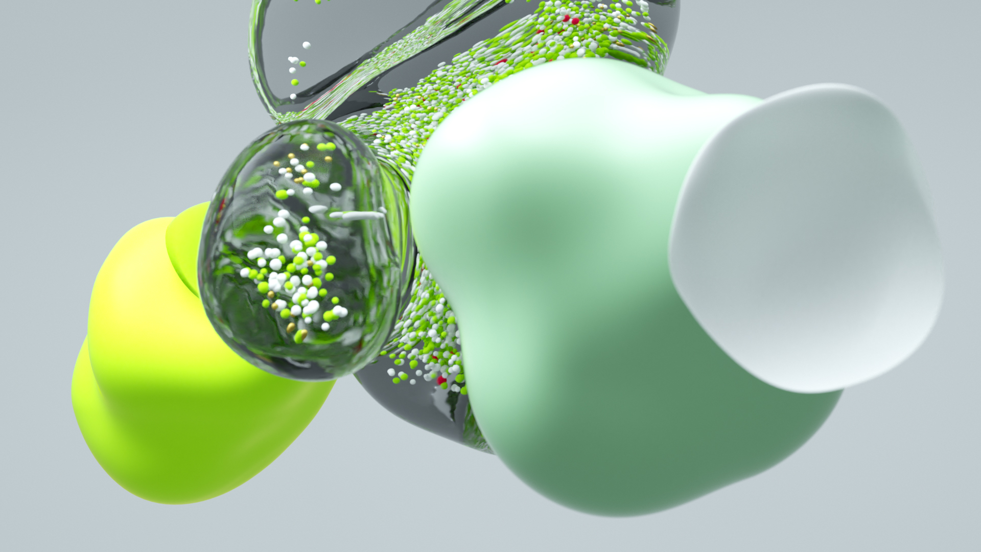 Green and clean 3D Particles - Styleframe