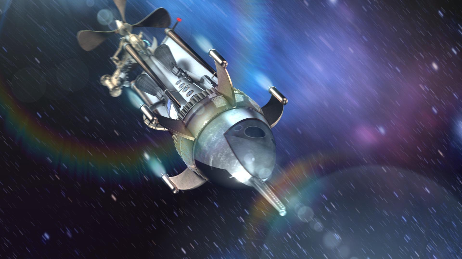 ZDF - Ein Fall fürs All Vorspann im Weltraum - 3d Motion Design