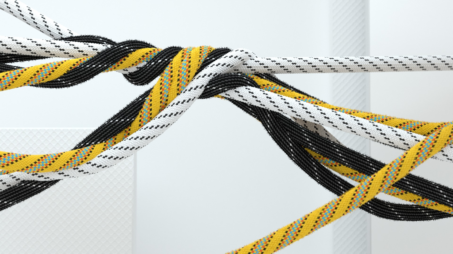 3D Ropes Knoted - Motion Graphics and Styleframe
